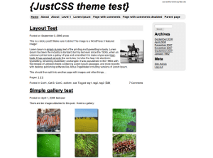 JustCSS free wordpress theme