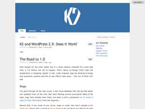 K2 free wordpress theme