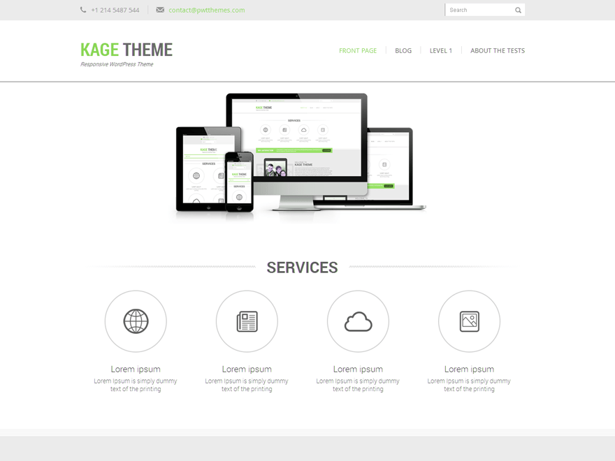 Kage Green free wordpress theme