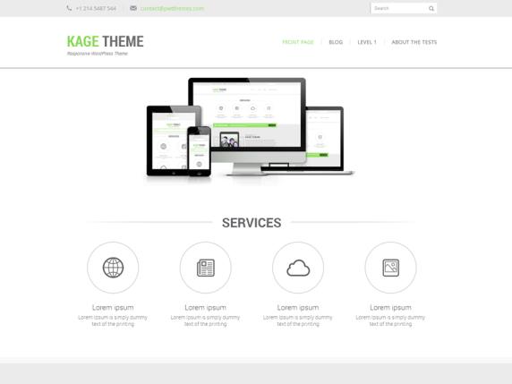 Kage Green wordpress theme