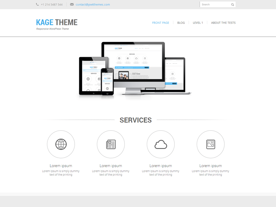 Kage free wordpress theme
