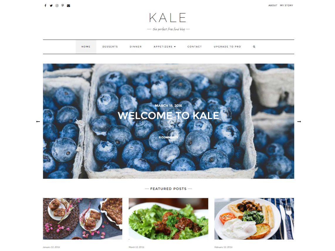 kale free responsive wordpress theme