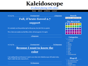 Kaleidoscope free wordpress theme