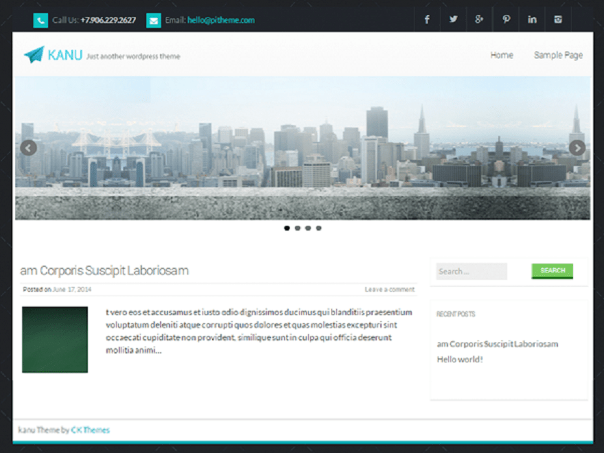 kanu free wordpress theme