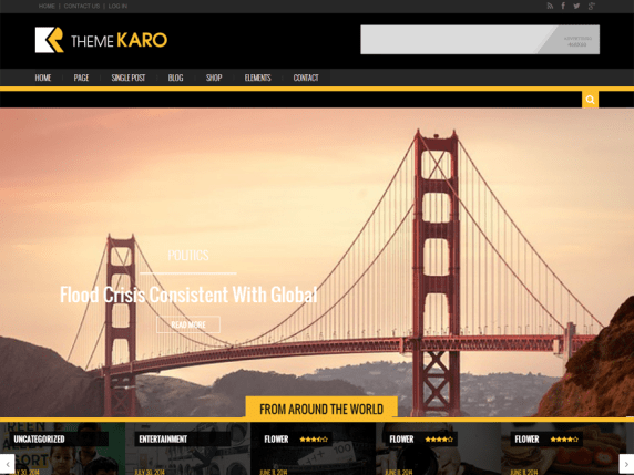 Karo Light wordpress theme