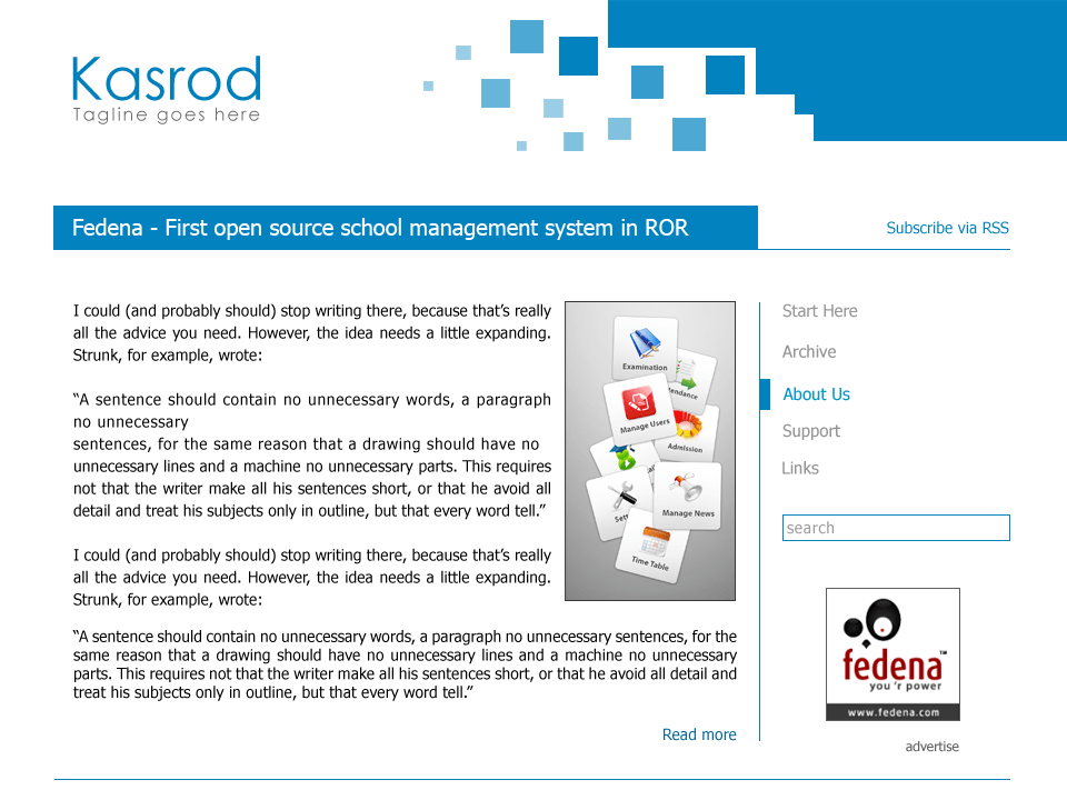 Kasrod free wordpress theme