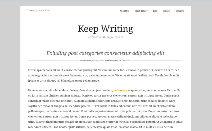 keepwriting free wordpress theme