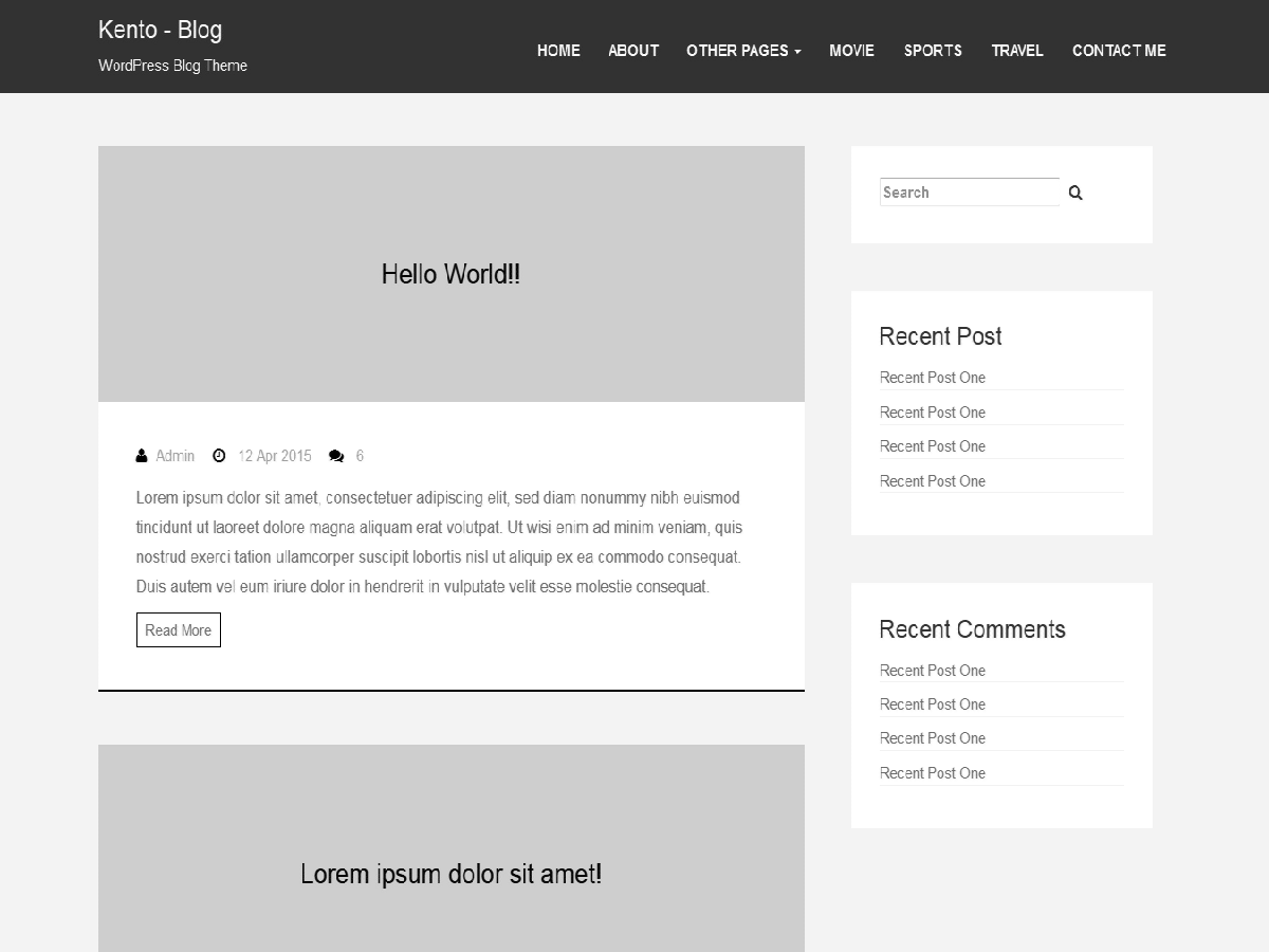 kento-blog free wordpress theme