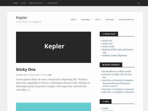 Kepler free wordpress theme
