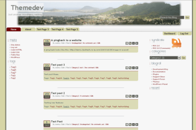 Khaki Traveler free wordpress theme