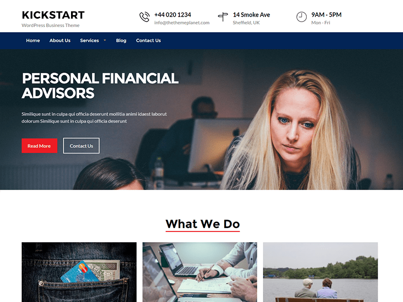 Kickstart business wordpress kickstart business is a modern responsive wordpress theme for consultants lawyers accountants financial advisors corporates agencies construction accmission Image collections