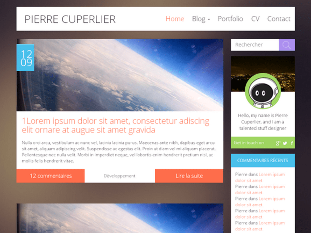 Kicoe free wordpress theme