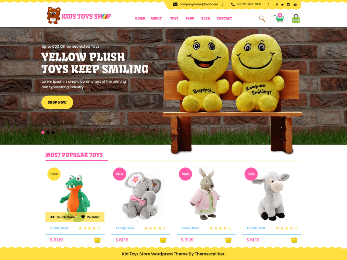 Kid Toys Store Theme Free Download