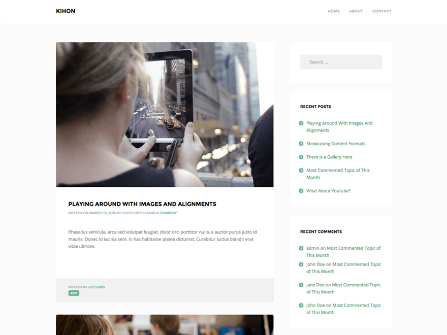 Kihon free wordpress theme