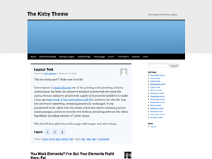 Kirby free wordpress theme