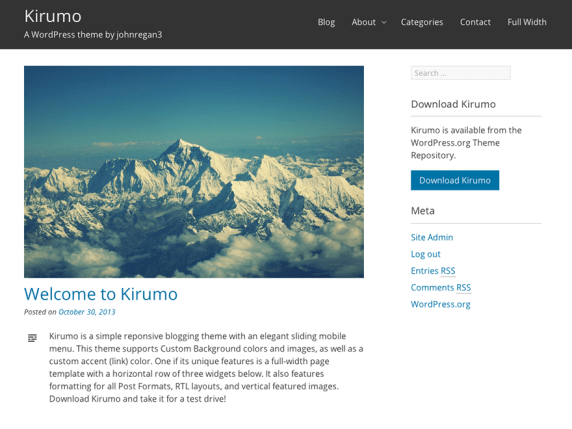 Kirumo wordpress theme