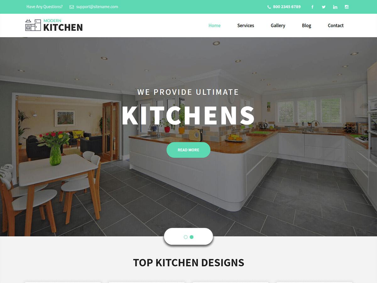 WordPress主题:Kitchen Design