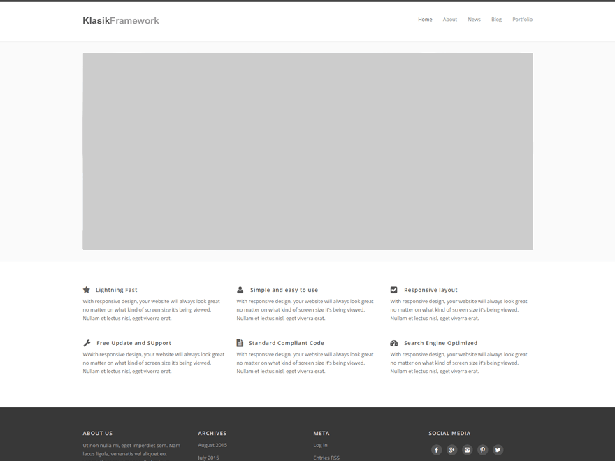 Klasik Framework free wordpress theme