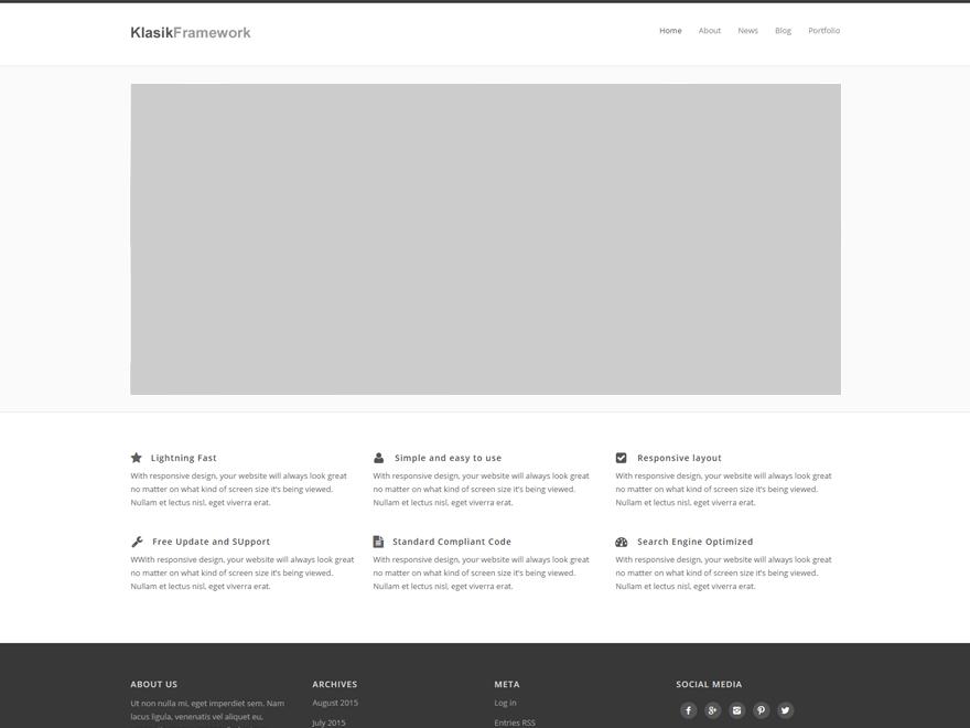 Klasik Framework | WordPress.org