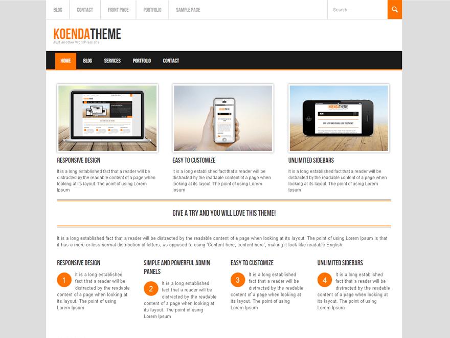Koenda free wordpress theme