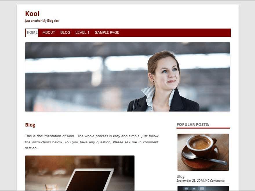 Kool free wordpress theme