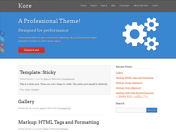 Kore theme wordpress gratuit