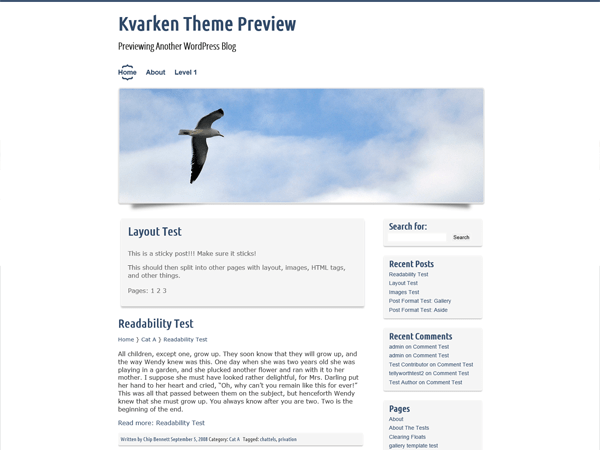 Kvarken free wordpress theme
