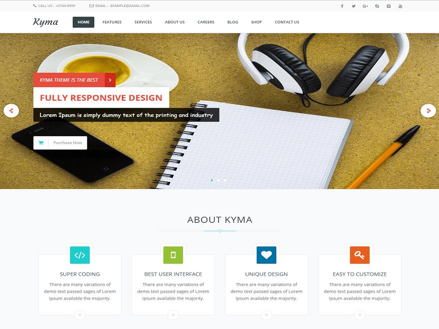 Kyma free wordpress theme