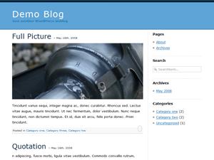 la-school blue - wordpress theme - wordpress.org