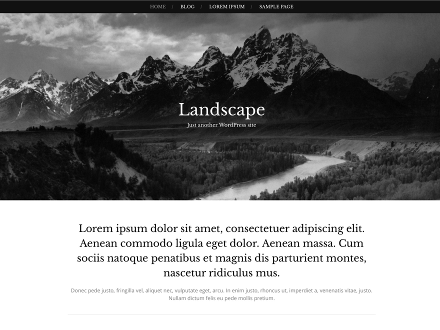 Landscape free wordpress theme