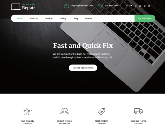 Laptop Repair Wordpress Theme Wordpress Org