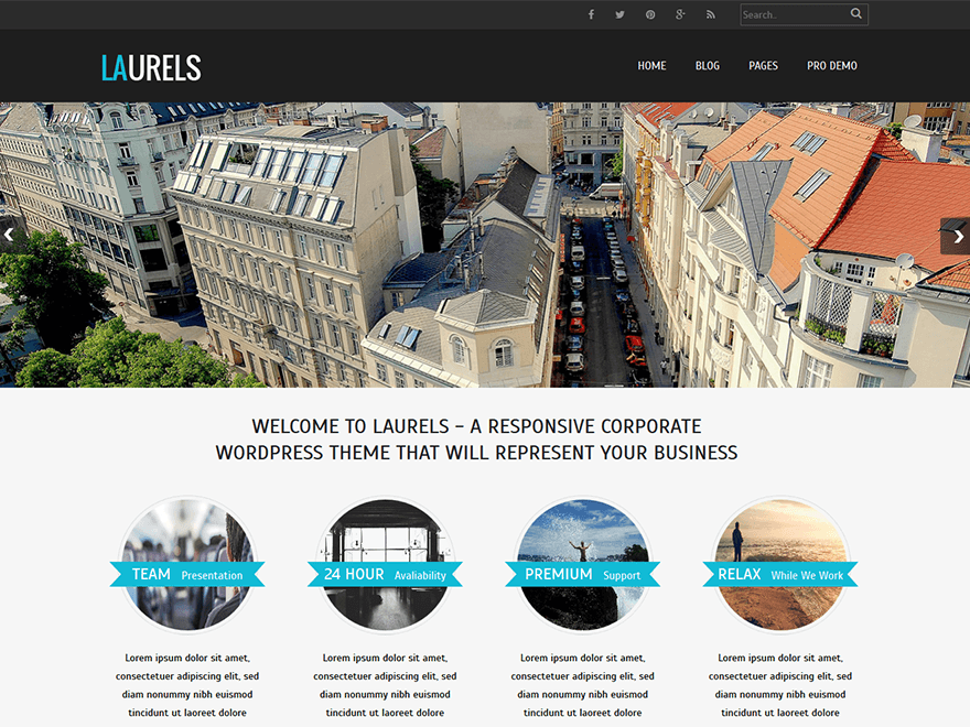 Laurels free wordpress theme