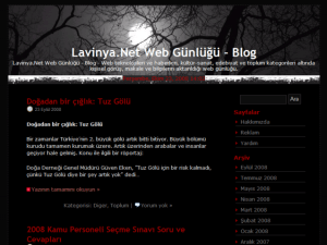 Lavinya Black free wordpress theme