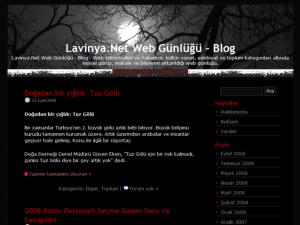 Lavinya Black wordpress theme