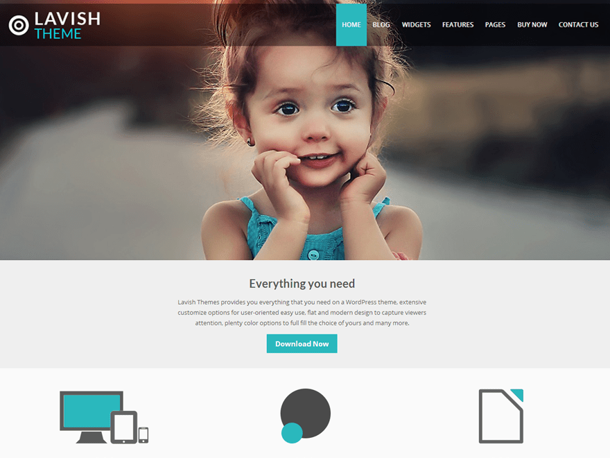 Lavish free wordpress theme