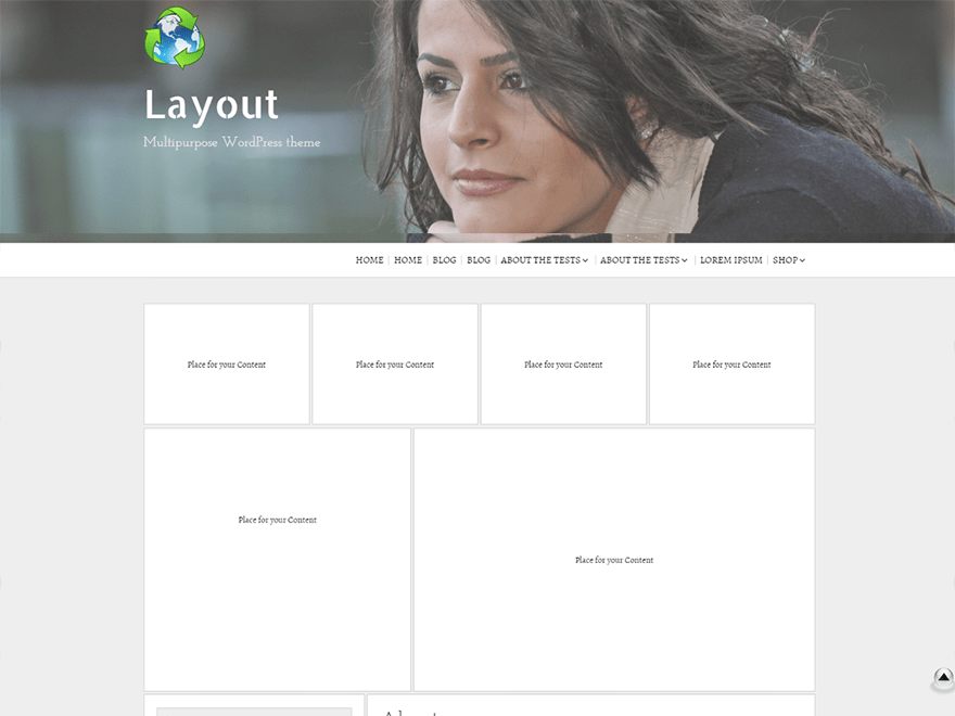 screenshot showing a demo of Layout Builder WooCommerce theme