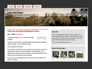 Lean and Clean: Arizona free wordpress theme