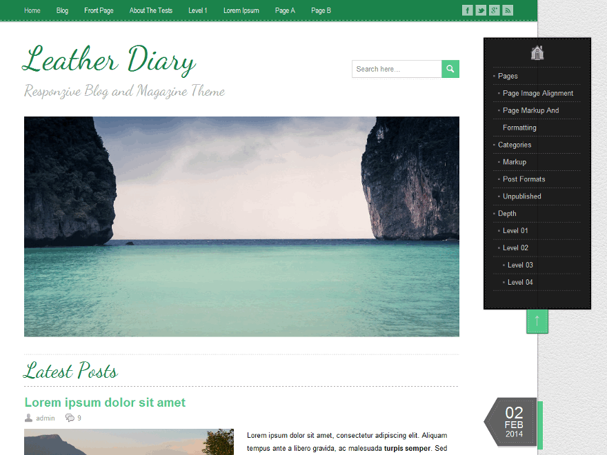 LeatherDiary theme wordpress gratuit