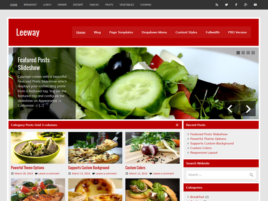 Leeway free wordpress theme