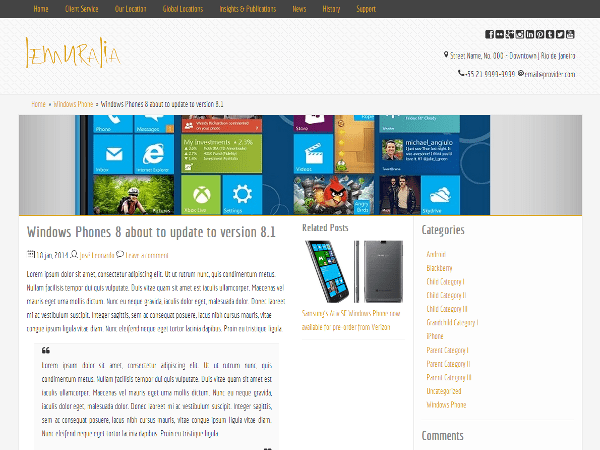 Lemuralia free wordpress theme
