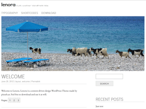 Lenora free wordpress theme