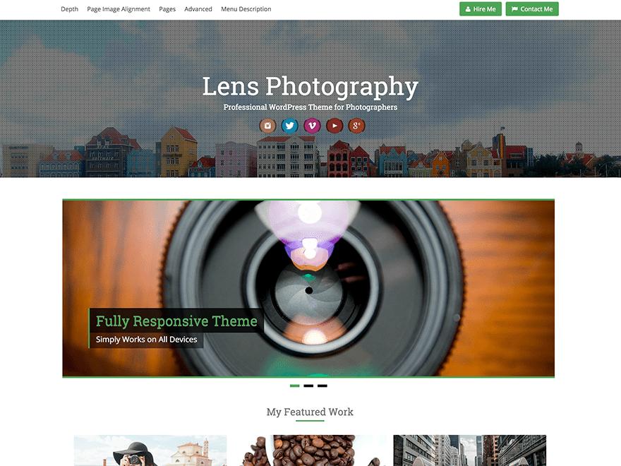Lens free wordpress theme