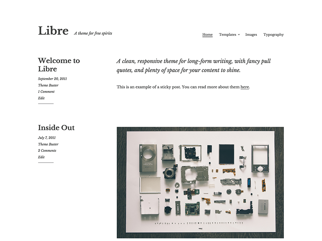 Libre free wordpress theme