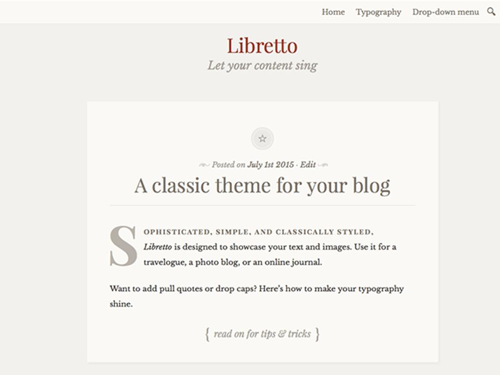 Libretto theme wordpress gratuit