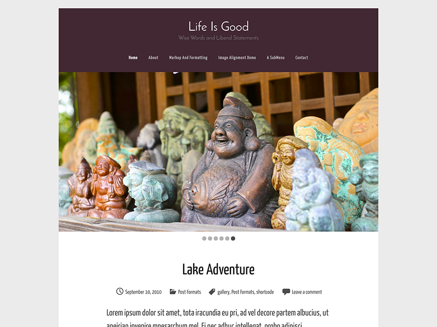 Life Is Good free wordpress theme