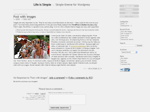 Life is Simple free wordpress theme