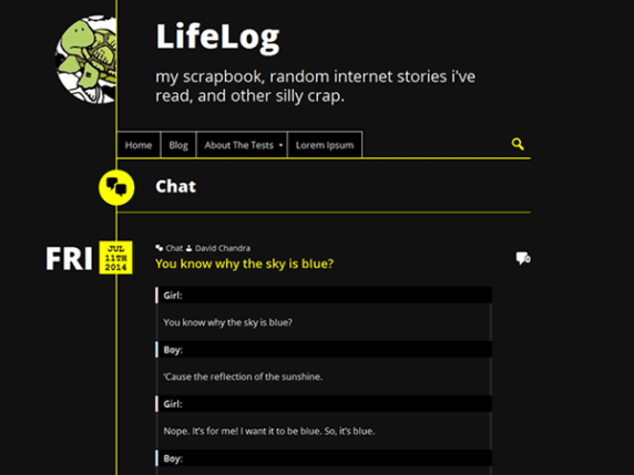 LifeLog wordpress theme