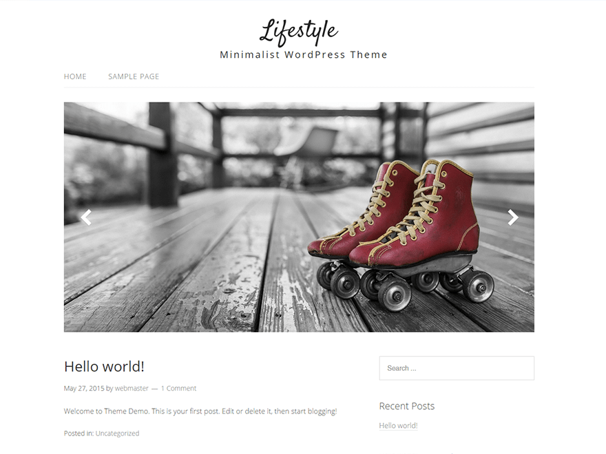 Lifestyle free wordpress theme