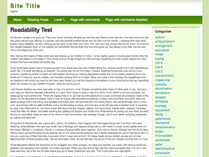 Light Green free wordpress theme