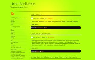 Lime Radiance free wordpress theme